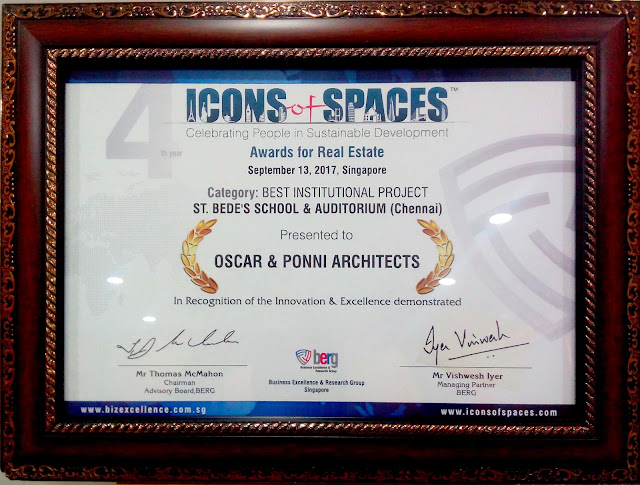 Oscar & Ponni Architects bag twin honors at 2017 Icons of Spaces Singapore