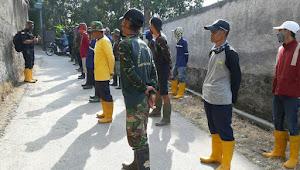 Satgas Sub 11 Sektor 22, Berhasil Mengangkat 700 Kg Sampah Sungai Cipeundeuy