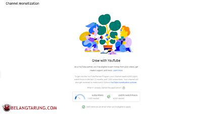 Syarat Monetize Youtube Adsense