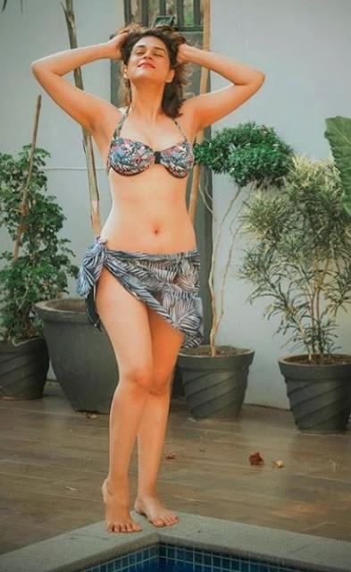 Shraddha Das Hot Navel Show