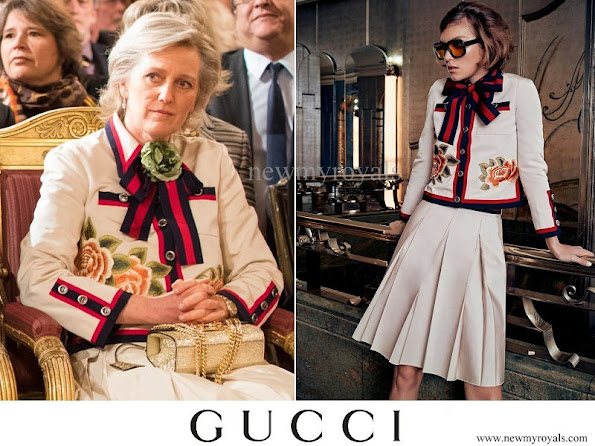 Princess Astrid wears Gucci skirt suit