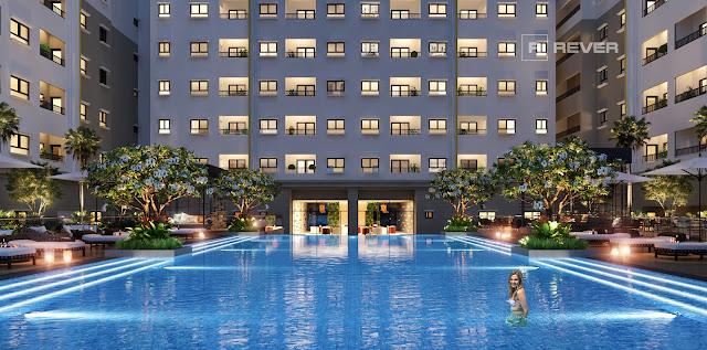 hồ bơi dự án căn hộ the view