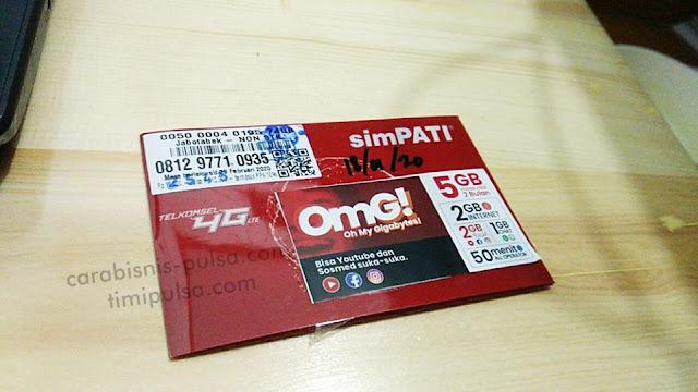 Harga dan Pembagian Kartu Kuota Telkomsel 5GB OMG