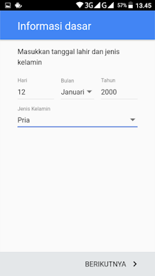 membuat akun Google di Android