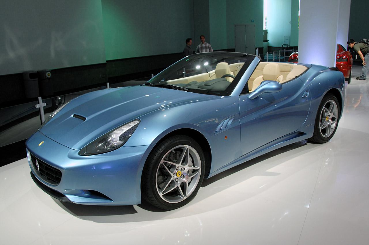 2012 Lamborghini Aventador: ferrari california blue