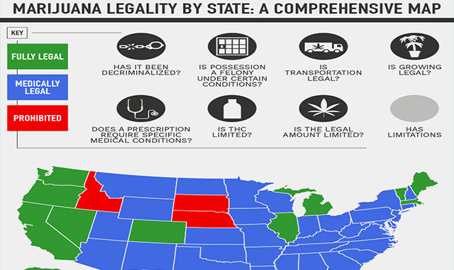 Marijuana Laws by State in 2020 #infographic