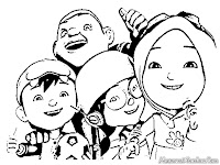 Boboi Boy Coloring Pages, Ying, Yaya, Gopal