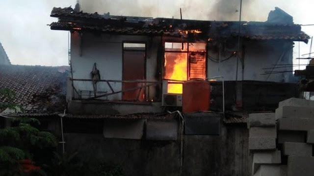 Kebakaran Rumah di Lubang Buaya Diduga Dipicu Pembakaran Sampah