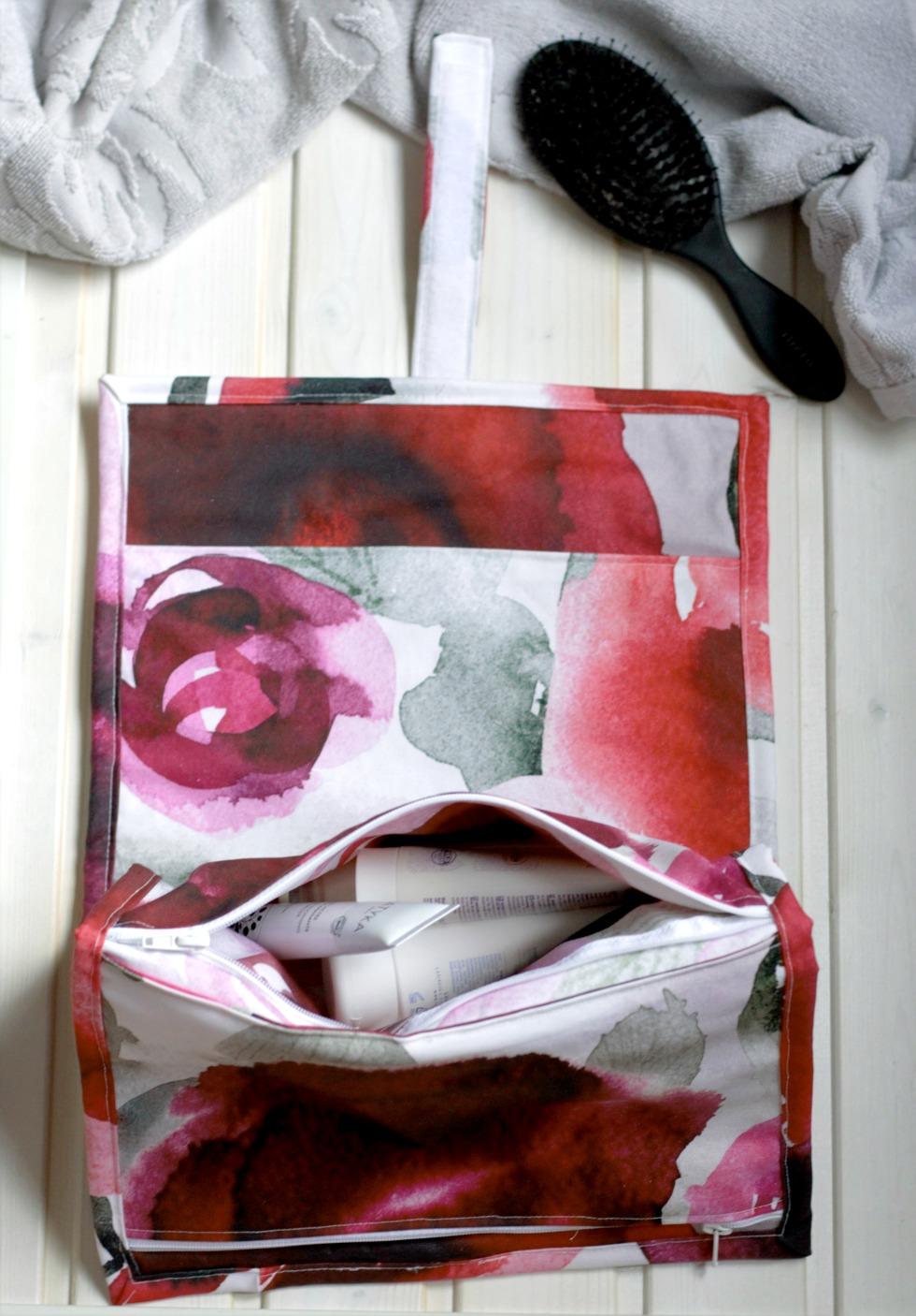 toilettilaukun ompeluohje