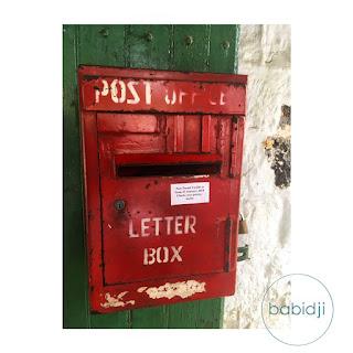 boîte à lettre de la poste de Rivière Noire à l'île maurice