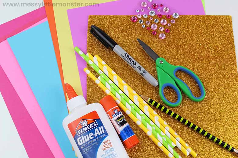unicorn mask craft supplies