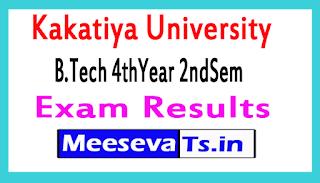 Kakatiya University B.Tech 4thYear 2ndSem Exam Results