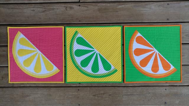 Zest lemon citrus quilt pattern by Slice of Pi Quilts