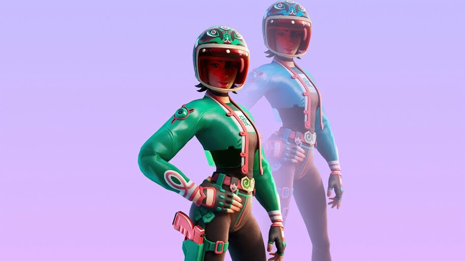 Jade Racer, Fortnite, Lunar New Year, Skin, Outfit, 4K, #7.889