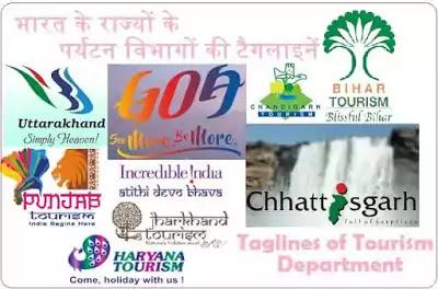 भारत के राज्यों के पर्यटन विभागों की टैगलाइनें और नारे Indian Tourism department Taglines