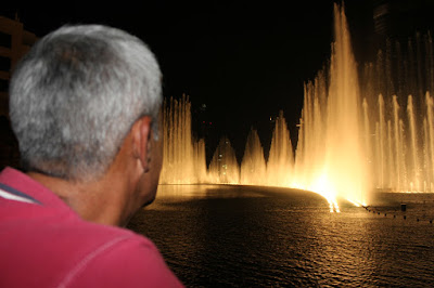 النافورة الراقصة في دبي مول