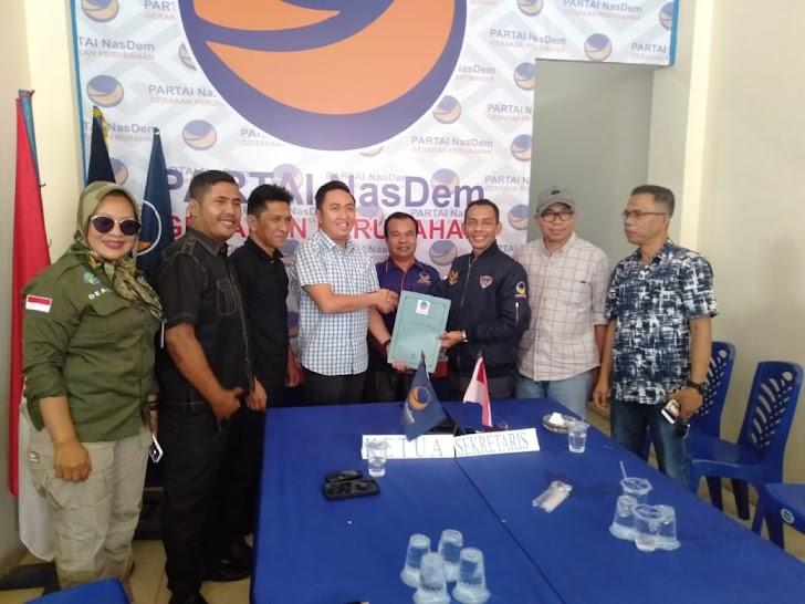 Fikar Azami Daftar Pencaringan Bacalon Walikota  di Partai Nasdem