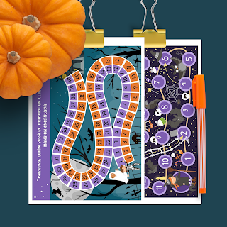 Halloween, juegos, actividades, imprimir, PDF, a4, etsy, sarahuesca