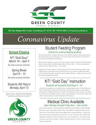 GCS coronavirus update