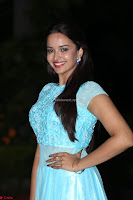 Pujita Ponnada in transparent sky blue dress at Darshakudu pre release ~  Exclusive Celebrities Galleries 079.JPG