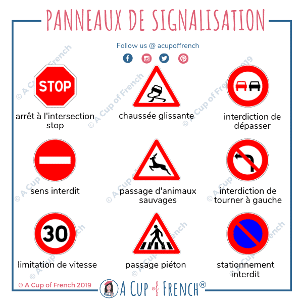 Znaki drogowe - znaki zakazu 2 - Francuski przy kawie