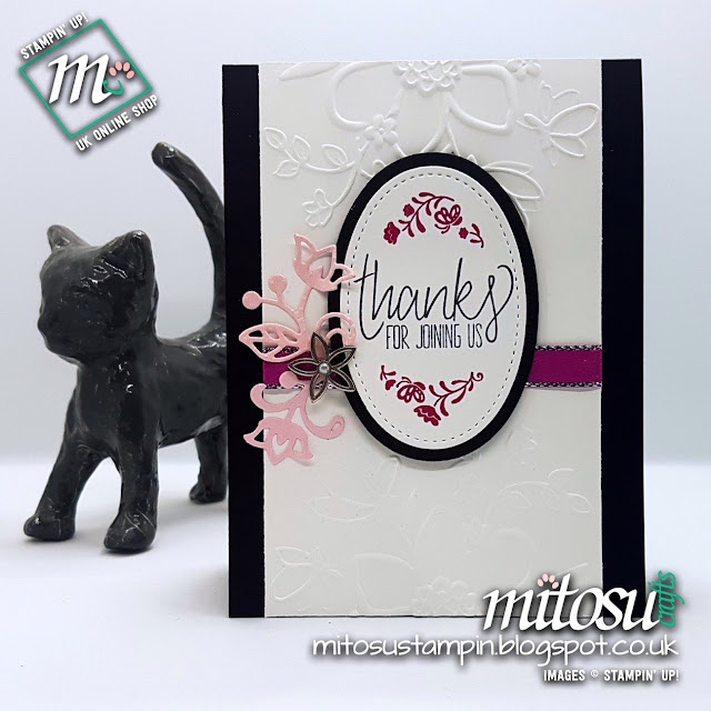 Stampin' Up! Lovely Floral Thank You Card Idea order craft supplies from Mitosu Crafts UK Online Shop