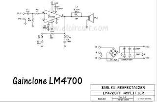 Schematic LM4700 Gainclone Amplifier