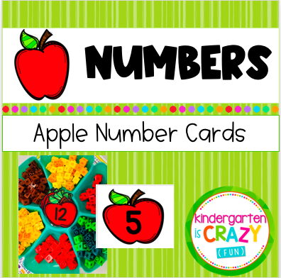 Fall apple counting for math stations