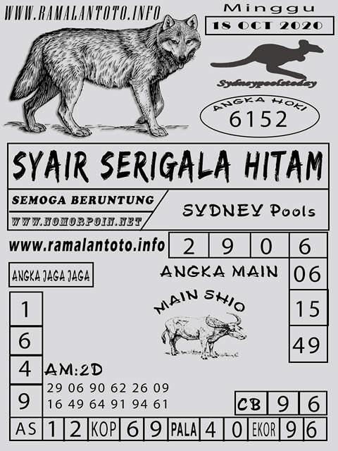 Kode syair Sydney Minggu 18 Oktober 2020 203
