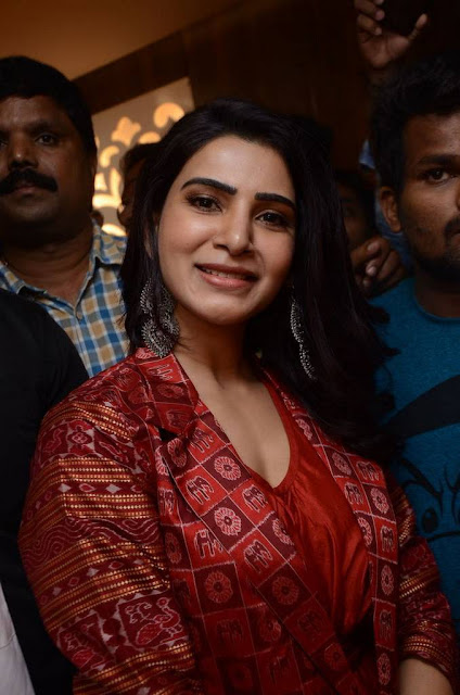 Samantha Ruth Prabhu red dress photos, hd wallpaper for android mobile download, actress hot photos