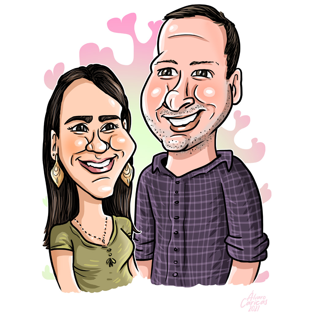 Caricatura Casal Digital