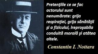 Citatul zilei: 5 iunie - Constantin I. Nottara