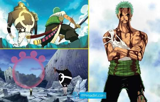 Moment Paling Memorable di Anime One Piece - Pengorbanan Zorro di Thriller Bark