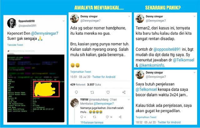 Awalnya Menyangkal, Kini Denny Siregar Mau Nuntut Telkomsel Gara-gara Data Pribadi Disadap, Bocor dan Disebar...