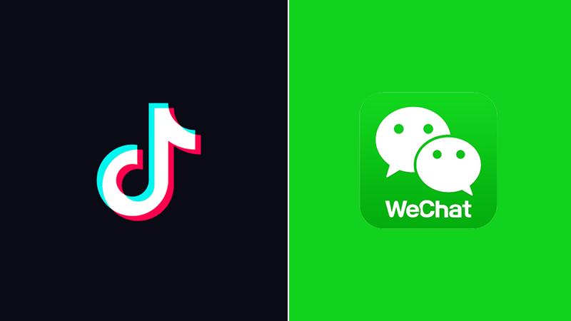 قرار بحظر تطبيق  المحادثةWeChat  وتطبيق TikTok داخل الولايات المتحدة 