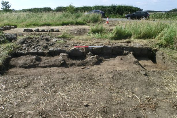 Remains of Roman road found in Northumberland
