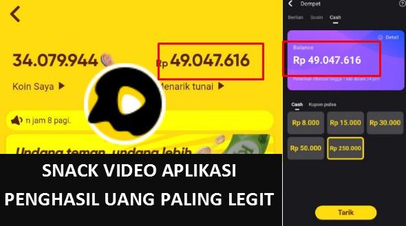 Snack Video Aplikasi Penghasil Uang Paling Legit 2021