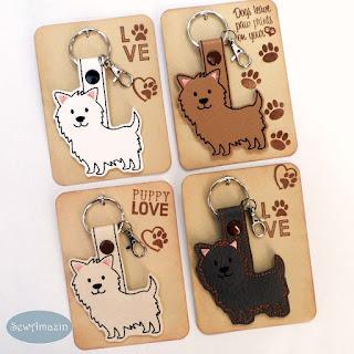 Cairn Terrier Key Fob, Purse Charm