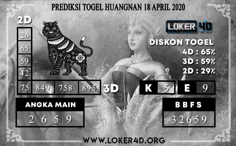 PREDIKSI TOGEL HUANGNAN LOKER4D 18 APRIL 2020