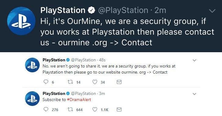 Sony PlayStation Social Media Accounts Hacked