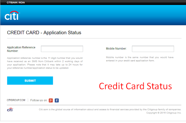 Citi Bank Personal Loan Status