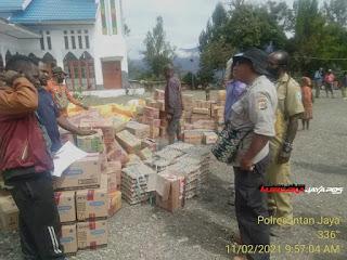 Kapolres Intan Jaya, Tidak ada ruang teror Kelompok KKB, Bupati dan Kapolres Kompak bagi Sembako