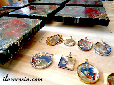 Pebeo Paints Under Resin