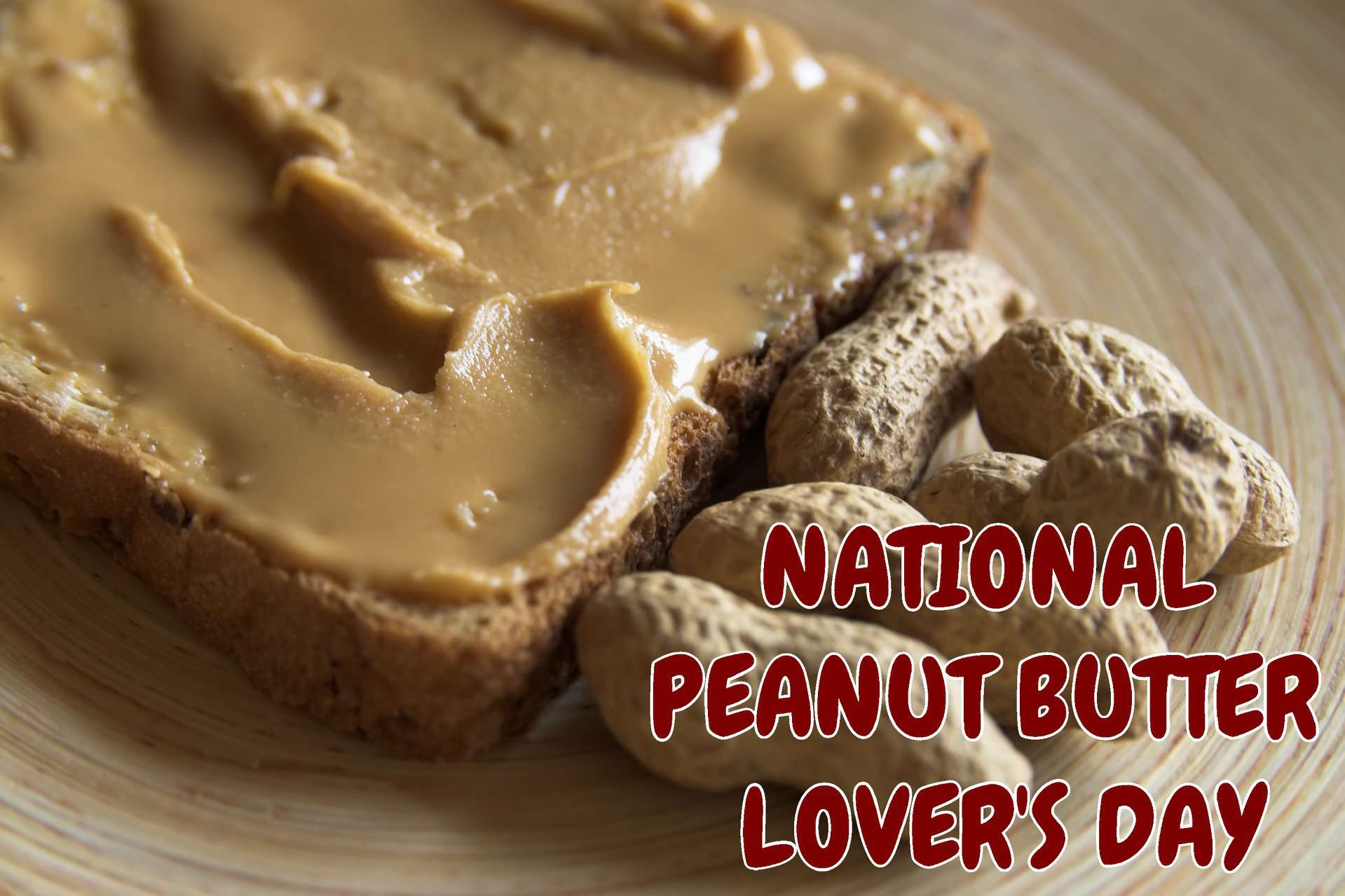 National Peanut Butter Lover's Day Wishes Beautiful Image