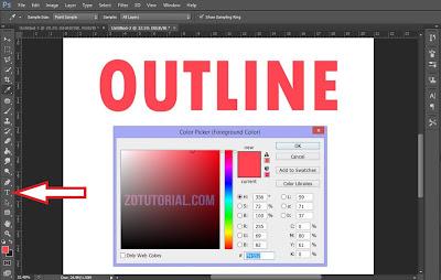 Tutorial Membuat Garis Pinggir Tulisan di Photoshop (Outline) Lengkap