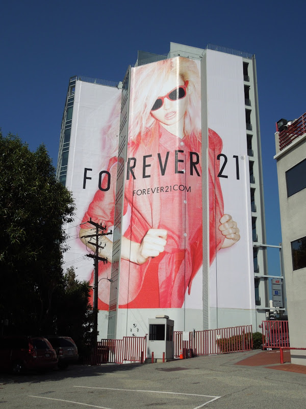 Giant Forever 21 fashion billboard