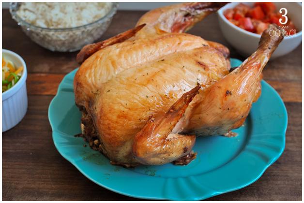 como fazer frango assado