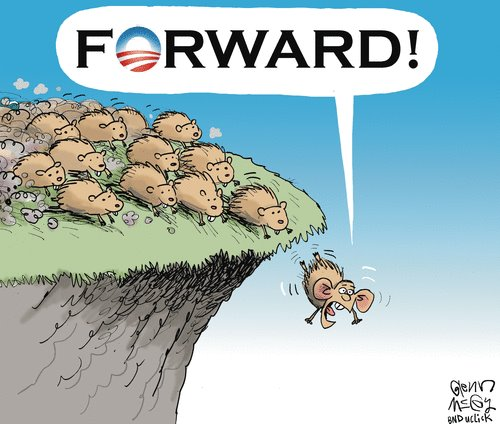 Image result for democrats over the cliff cartoon