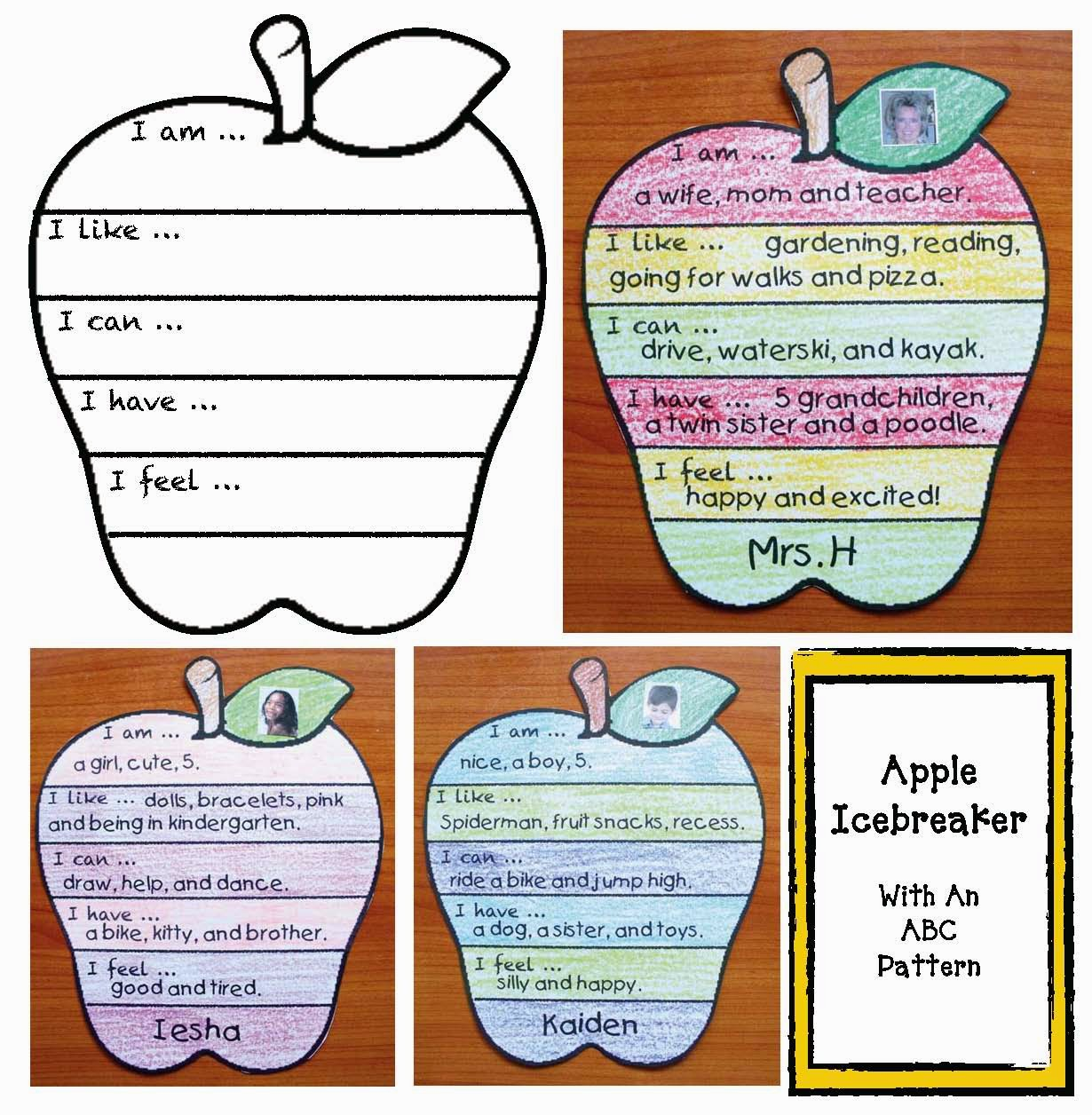 Classroom Freebies Back To School Apple Icebreaker