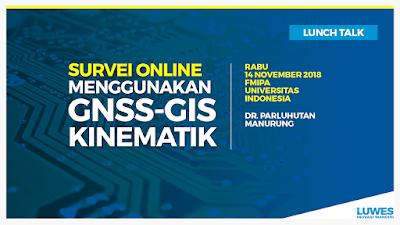 Survei Online Menggunakan GNSS-GIS Kinematik